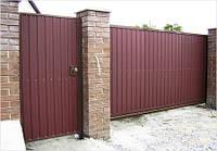 Ворота из профнастила 3,5м*2м