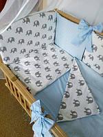 """Детское постельное белье с бортиками подушечками в кроватку новорожденного- """"Сладкий сон"""" 7 ед."""