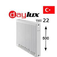 Радиатор Daylux класс 22  500x1000   боковое  подключение