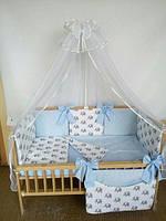 """Комплект детской постели с бортиками подушечками в кроватку новорожденного- """"Сладкий сон"""" 8 ед., фото 1"""