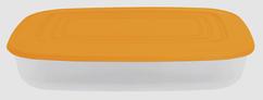 Контейнер прямоугольный 2,5 л оранжевый