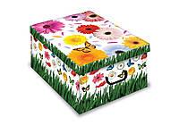 """Коробка для хранения вещей """"Герберы"""" 40*50*25 см, Evoluzione (Италия)"""