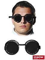 Сварочные очки с круглыми стеклышками GOG-CIRSMA B