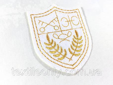 Нашивка герб колір білий 49х62 мм, фото 2
