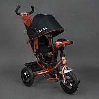Велосипед 3-х колёс. 6588 В Best Trike (1) БРОНЗОВЫЙ, НАДУВНЫЕ КОЛЕСА d=29см. переднее, d=26см. задние,ФАРА, КЛЮЧ ЗАЖИГАНИЯ