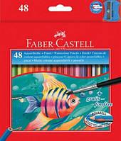 Цветные карандаши Faber-Castell акварельные 48 цветов в картонной коробке 114448