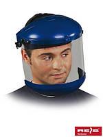 Защита для лица, состоящая из противоосколочного стеклышка, шлема, подбородка и шарнирной системы OTN N