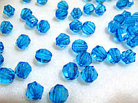Бусины хрустальные синие 10 мм (искусственные)