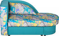 Детская кровать раскладная с нишей для белья угловая бирюзовый