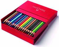 Цветные карандаши Faber-Castell акварельные 36 цвета GRIP 2001 трехгранные  в картонной коробке 112436