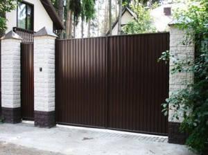 Ворота профнастильные 4м*1,5м