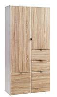 Шкаф 2-х дверный + 4 ящика (цвет дуб)