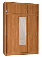 Шкаф 3-х дверный с зеркалом + 3 ящика (цвет ольха)