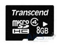 Карта памяти Transcend 8GB microSDHC Class 4 (TS8GUSDC4)