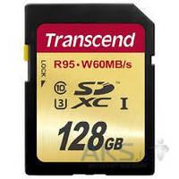 Карта памяти Transcend 128GB SDXC Ultimate Class 10 UHS-I U3 R95/W65MB/s (TS128GSDU3)