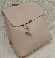 Женский модный и стильный рюкзак качественная эко-кожа цвет пудра
