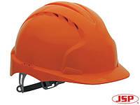 Каска защитная EVO2 (JSP Великобритания) из синтетического материала HDPE оранжевая KAS-EVO2 P