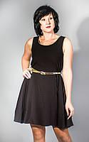 Платье нарядное черное солнцеклеш Morgan