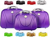Дорожная сумка кейс 883 из поликарбоната, набор 3 штуки
