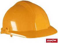 Каска строительная промышленная REIS (RAWPOL) Польша из материала ABS оранжевая KAS P