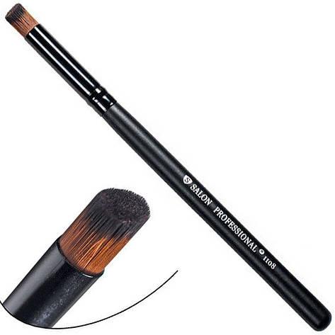 Salon Prof. Кисть для макияжа 1108 (средне-малая) бочонок скошенный-срез 12х9мм, фото 2