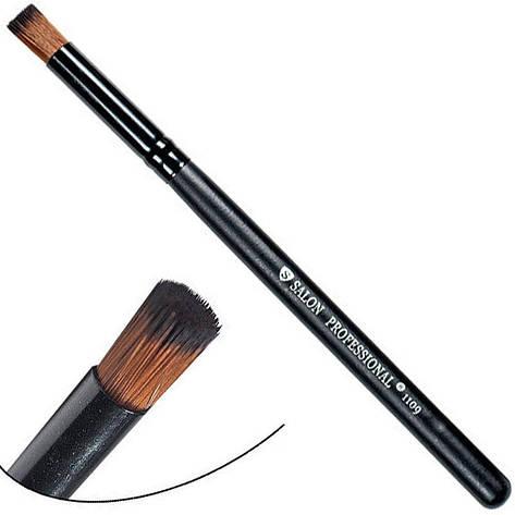 Salon Prof. Кисть для макияжа 1109 (средне-малая) бочонок прямой-срез 11х9мм, фото 2