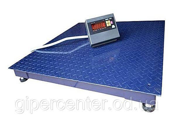 Электронные весы платформенные для склада ЗЕВС-Стандарт ВПЕ-4 (1500х1500 мм), НПВ: 1000 кг - фото 1