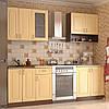 Кухонный гарнитур МДФ  1,8 метра из 6 модулей бежевая (кухонный комплект мебели)
