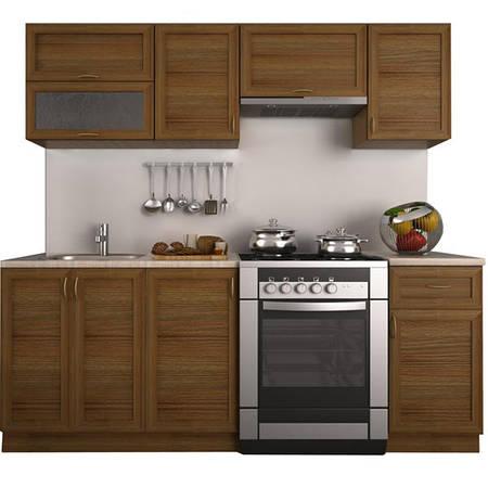 Кухонный гарнитур 2 метра из 7 модулей дуб (кухонный комплект мебели)