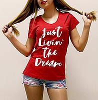 """Женская футболка """"Just living the dream"""", фото 1"""