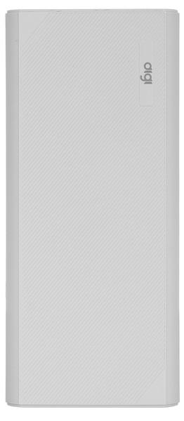 Портативное зарядное устройство DiGi LI-97 10000 mAh Li-ion Gray (внешняя зарядка для телефона)