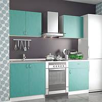 Кухонный гарнитур модульный 1,4 метра из 4 модулей зеленая (кухонный комплект мебели)