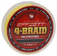 Шнур DAM Effzett 4-BRAID 125м 0,13мм 6,8кг (yellow)
