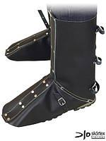 Щитки для защиты колен и стопы кожаные NNL