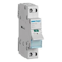 Выключатель нагрузки Hager, 1-полюсный 25А/230В, 1м