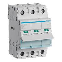 Выключатель нагрузки Hager, 3-полюсный 40А/400В, 3м