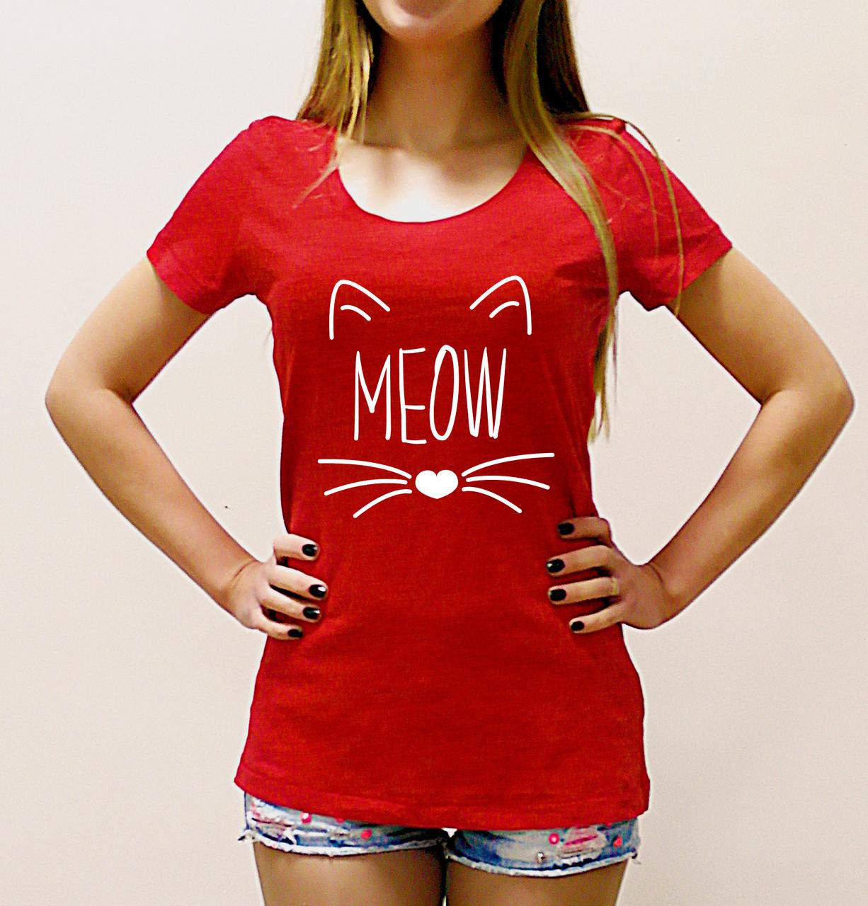 "Женская футболка ""Meow"""