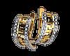 Золотые серьги с накладкой Версаче