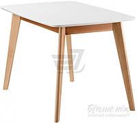 Обеденный деревянный стильный стол белый  120 см