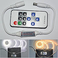 Диммер контроллер одноцветной светодиодной ленты RF с разъемами