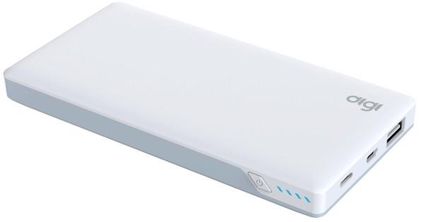 Портативное зарядное устройство DiGi LI-107 QC 2.0 - 10000 mAh Li-pol White (внешняя зарядка для телефона)