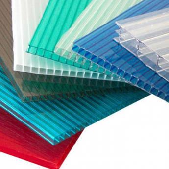 Поликарбонат сотовый 4мм бронза , белый , зеленый , синий листы 2,1х6м Днепр