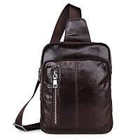 """Рюкзак сумка через плече """"Стиляга 3"""" кожа"""