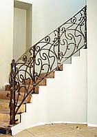 Кованые перила для лестниц - на заказ, фото, цены, эскизы