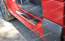 Накладки на пороги Opel Vivaro (накладки порогов Опель Виваро)