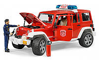 Джип пожарный Bruder Wrangler Unlimited Rubicon с фигуркой пожарника 1:16 (02528)