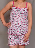 """Женский комплект домашний майка с шортами """"Амри"""" домашняя одежда пижамы больших размеров"""