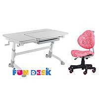 Парта для подростка FunDesk Amare Grey + Детское кресло SST5