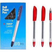 Ручка масляная P 500 красная