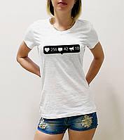 """Женская футболка """"Лайки, репосты, коменты"""""""